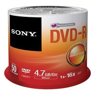 Fotos SONY DVD-R  16X  SPINDLE 50 PCS      .