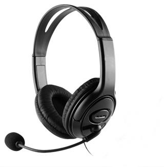 Auriculares +  Microfono Coolbox Coolchat U1 Negro