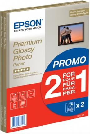 Fotos Epson Premium Glossy Photo Paper/A4 2x15sh 1+1