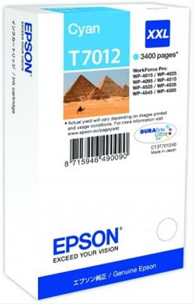 Fotos EPSON INK CARTRIDGE XXL CYAN 3.4K     WP4000/4500 SERI