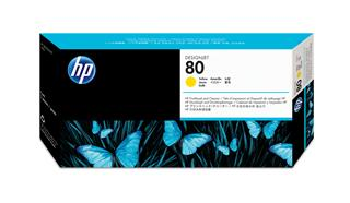 Fotos HP No80 Printhead+cleaner/yellow DJ1xxx