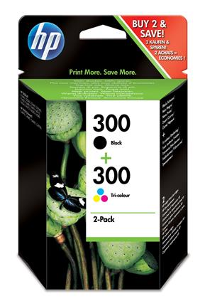 Fotos HP 300 Ink Cartridge Combo 2 Pack