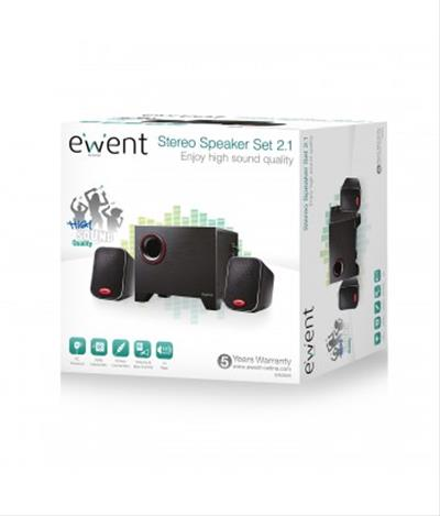 Altavoces Ewent Ew3505 15 W Negro 2. 1 Canales
