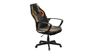 Fotos SILLA GAMER JUNIOR MARS GAMING MGC0BO COLOR NEGRO/NARANJA ASIENTO PU Y NYLON RECLINABLE Y ERGONOMICO BASE PVC 60 x 75 x 110-120cm / 14.5 Kg  SOPORTA 1