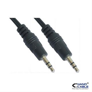 Nanocable Cable Audio Estereo.  3. 5/ M- 3. 5/ M.  10 M