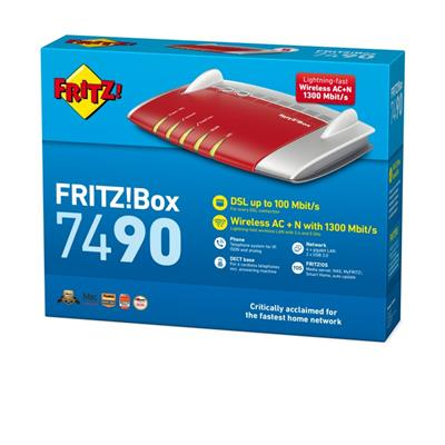 Router Avm Fritz! Box 7490 Modem Centralita Outlet