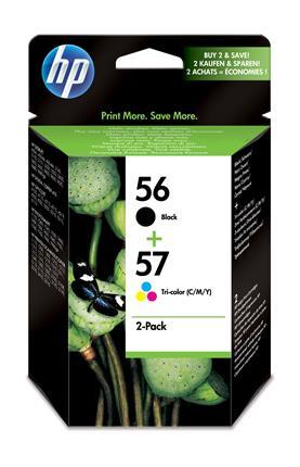 Fotos HP 56/57 Ink Cart 2-Pack promo blk/color