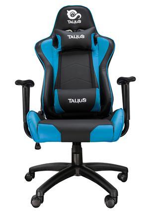 Silla Gamer Talius Gecko Negra Y Azul. Brazos Fijos