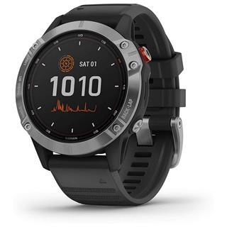 Fotos Smartwatch Garmin Fénix 6 solar 47mm plata con correa negra