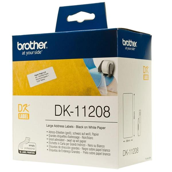 Brother QL-820NWB Etiquetas precortadas de direcci/ón grandes Impresora de etiquetas Brother DK11208