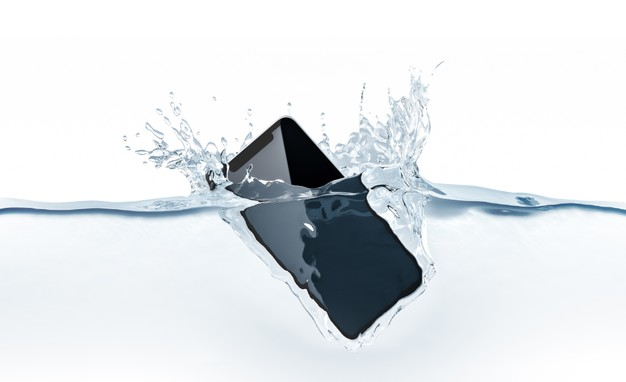 Smartphone prueba del agua
