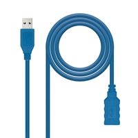 Nanocable Cable Usb 3. 0,  Tipo A/ M- A/ H,  Azul,  2. 0 M