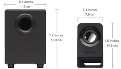 Altavoces 2. 1 Logitech Multimedia Speakers . . .