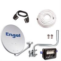 Kit Antena Parabolica Engel 60Cm+  . . .