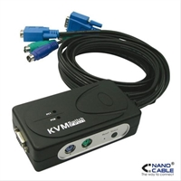 Kvm Switch Vga Usb 1U- 2Pc+ Cable . . .