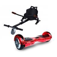 Pack Hoverboard Skateflash K6 4400Mah Rojo Cromado