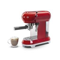 Smeg Ecf01rdeu Cafetera Espresso Retro Roja
