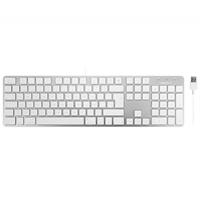 Teclado Apple Mac Macally Slimkeyproa- Es Plata