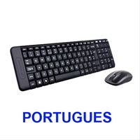 Teclado Logitech Wireless Mk220 Portugues . . .